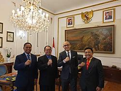 Dekan FMP Unhan Kunjungan Ke Dubes RI untuk Perancis